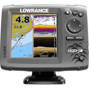 Эхолот LOWRANCE Hook-5 Mid/High/DownScan с GPS